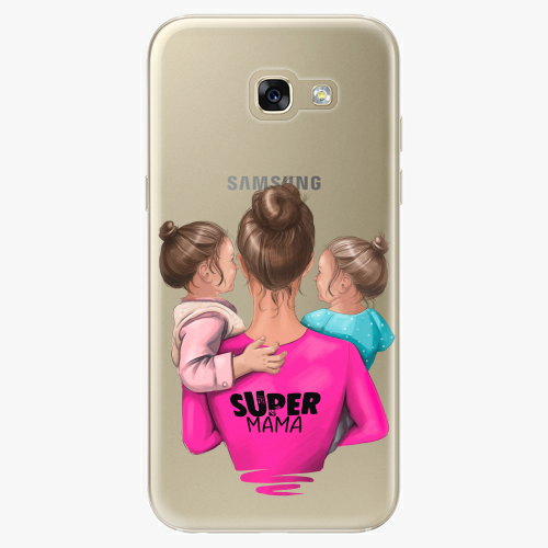 Silikonové pouzdro iSaprio - Super Mama na mobil Two Girls na mobil Samsung Galaxy A5 2017