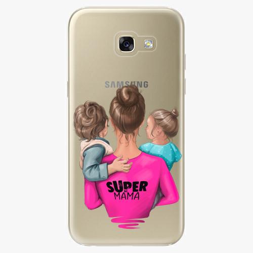 Silikonové pouzdro iSaprio - Super Mama na mobil Boy and Girl na mobil Samsung Galaxy A5 2017