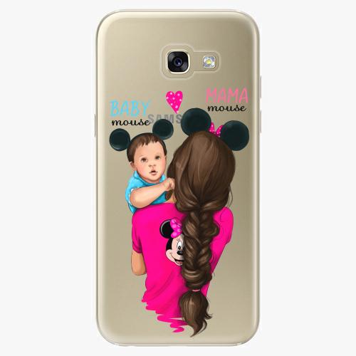 Silikonové pouzdro iSaprio - Mama Mouse Brunette and Boy na mobil Samsung Galaxy A5 2017