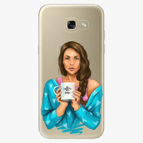 Silikonové pouzdro iSaprio - Coffe Now / Brunette na mobil Samsung Galaxy A5 2017