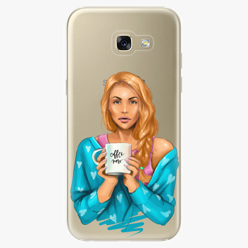 Silikonové pouzdro iSaprio - Coffe Now / Redhead na mobil Samsung Galaxy A5 2017
