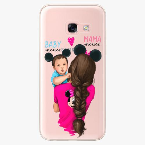 Silikonové pouzdro iSaprio - Mama Mouse Brunette and Boy na mobil Samsung Galaxy A3 2017