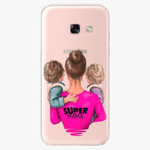 Silikonové pouzdro iSaprio - Super Mama na mobil Two Boys na mobil Samsung Galaxy A3 2017
