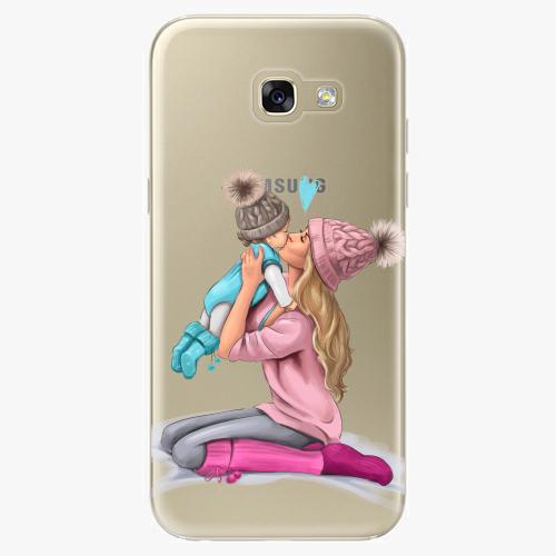Silikonové pouzdro iSaprio - Kissing Mom / Blond and Boy na mobil Samsung Galaxy A5 2017