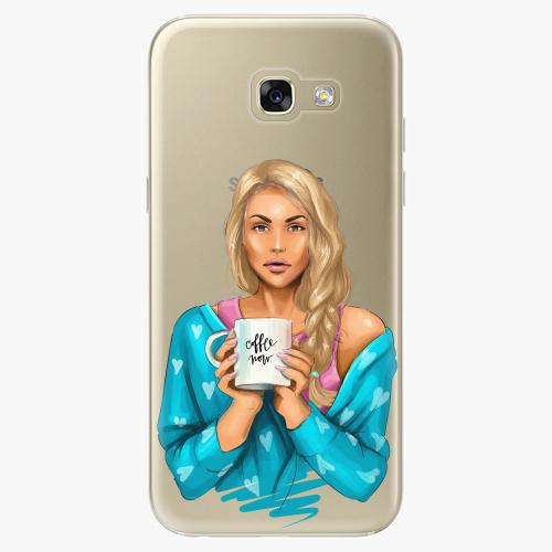 Silikonové pouzdro iSaprio - Coffe Now / Blond na mobil Samsung Galaxy A5 2017