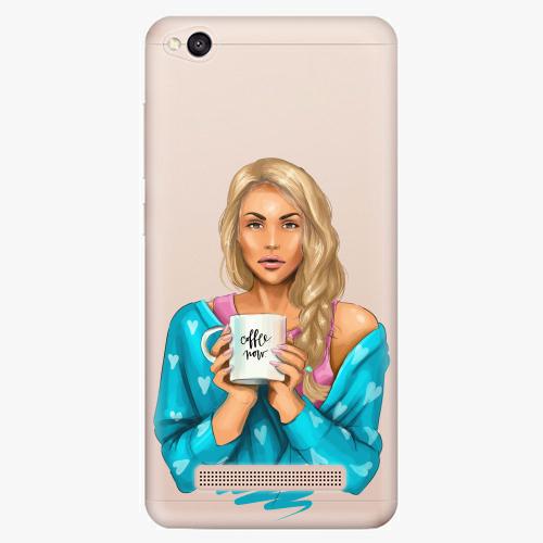 Silikonové pouzdro iSaprio - Coffe Now / Blond na mobil Xiaomi Redmi 4A