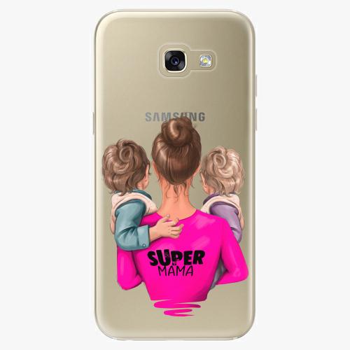 Silikonové pouzdro iSaprio - Super Mama na mobil Two Boys na mobil Samsung Galaxy A5 2017