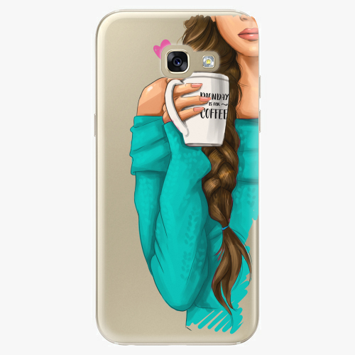 Silikonové pouzdro iSaprio - My Coffe and Brunette Girl na mobil Samsung Galaxy A5 2017