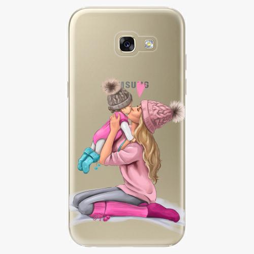 Silikonové pouzdro iSaprio - Kissing Mom / Blond and Girl na mobil Samsung Galaxy A5 2017