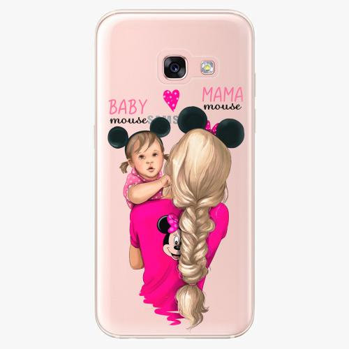 Silikonové pouzdro iSaprio - Mama Mouse Blond and Girl na mobil Samsung Galaxy A3 2017