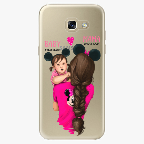 Silikonové pouzdro iSaprio - Mama Mouse Brunette and Girl na mobil Samsung Galaxy A5 2017