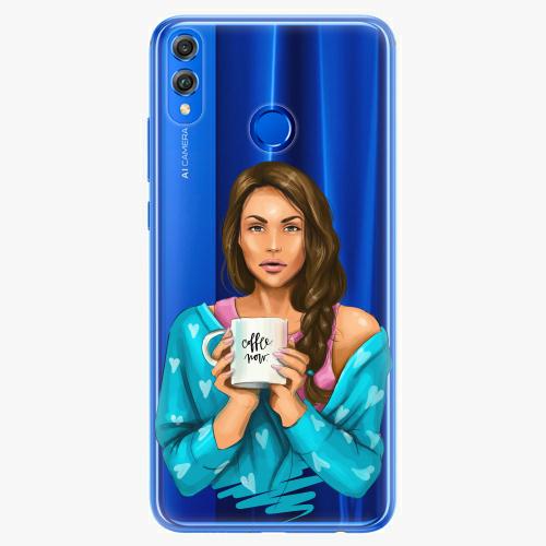 Silikonové pouzdro iSaprio - Coffe Now / Brunette na mobil Honor 8X