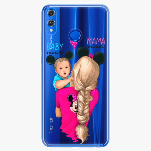Silikonové pouzdro iSaprio - Mama Mouse Blonde and Boy na mobil Honor 8X
