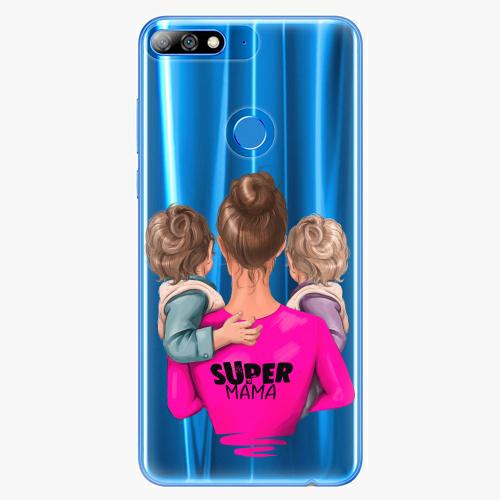 Silikonové pouzdro iSaprio - Super Mama na mobil Two Boys na mobil Huawei Y7 Prime 2018