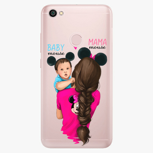 Silikonové pouzdro iSaprio - Mama Mouse Brunette and Boy na mobil Xiaomi Redmi Note 5A / 5A Prime