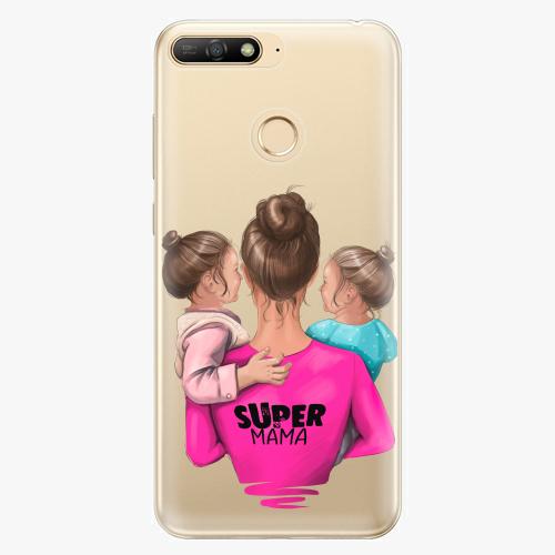 Silikonové pouzdro iSaprio - Super Mama na mobil Two Girls na mobil Huawei  Y6 Prime 2018 empty 0823c1fafe7