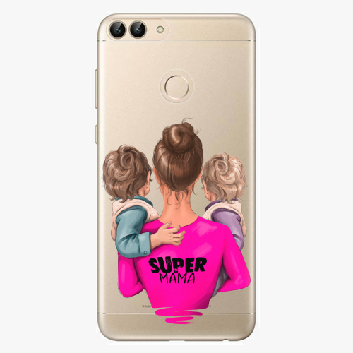 Silikonové pouzdro iSaprio - Super Mama na mobil Two Boys na mobil Huawei P Smart
