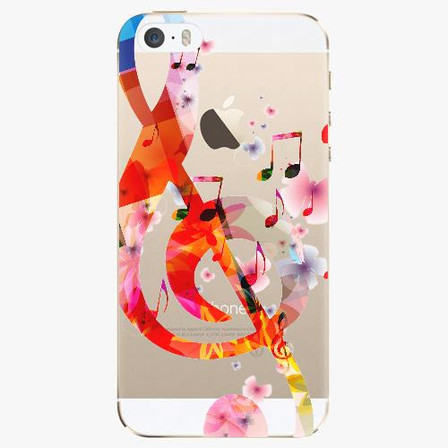 Silikonové pouzdro iSaprio - Music 01 na mobil Apple iPhone 5/ 5S/ SE