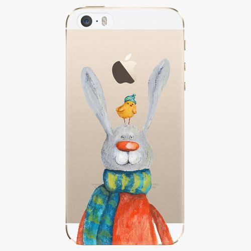 Silikonové pouzdro iSaprio - Rabbit And Bird na mobil Apple iPhone 5/ 5S/ SE