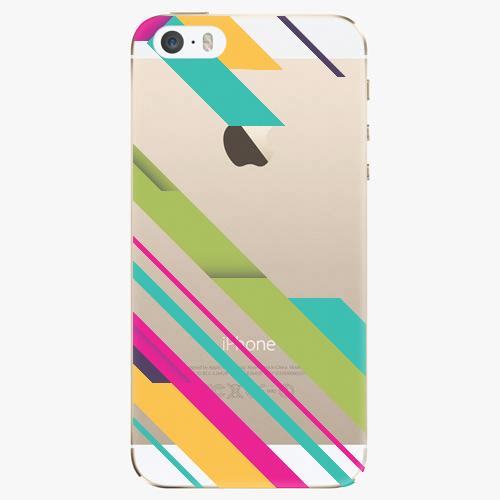 Silikonové pouzdro iSaprio - Color Stripes 03 na mobil Apple iPhone 5/ 5S/ SE
