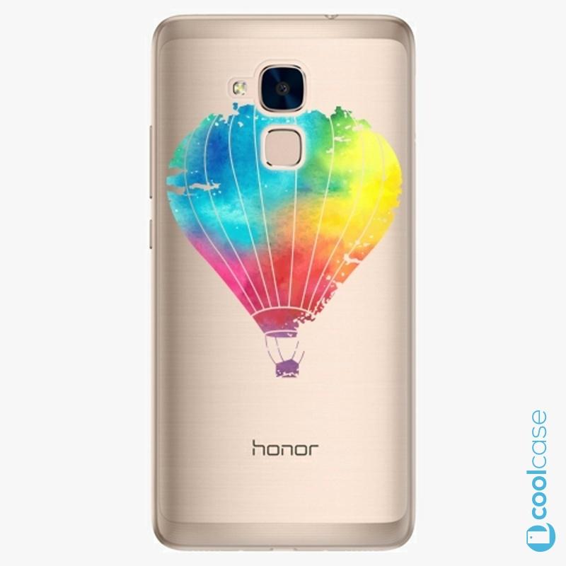 Silikonové pouzdro iSaprio - Flying Baloon 01 na mobil Honor 7 Lite