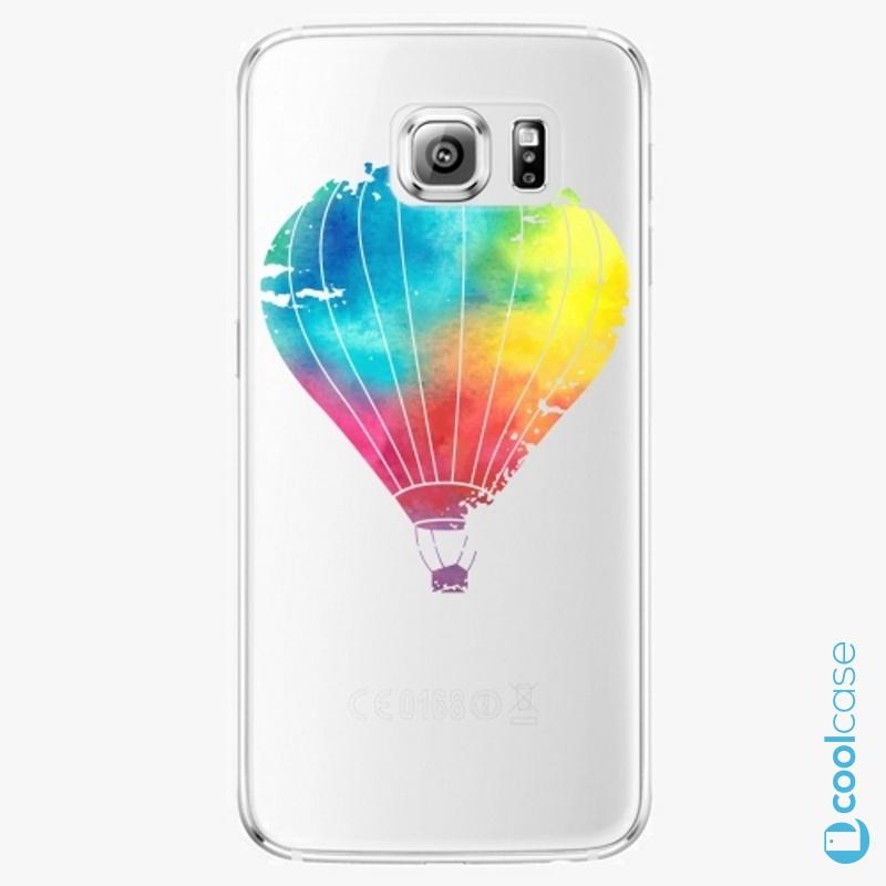 Silikonové pouzdro iSaprio - Flying Baloon 01 na mobil Samsung Galaxy S6 Edge
