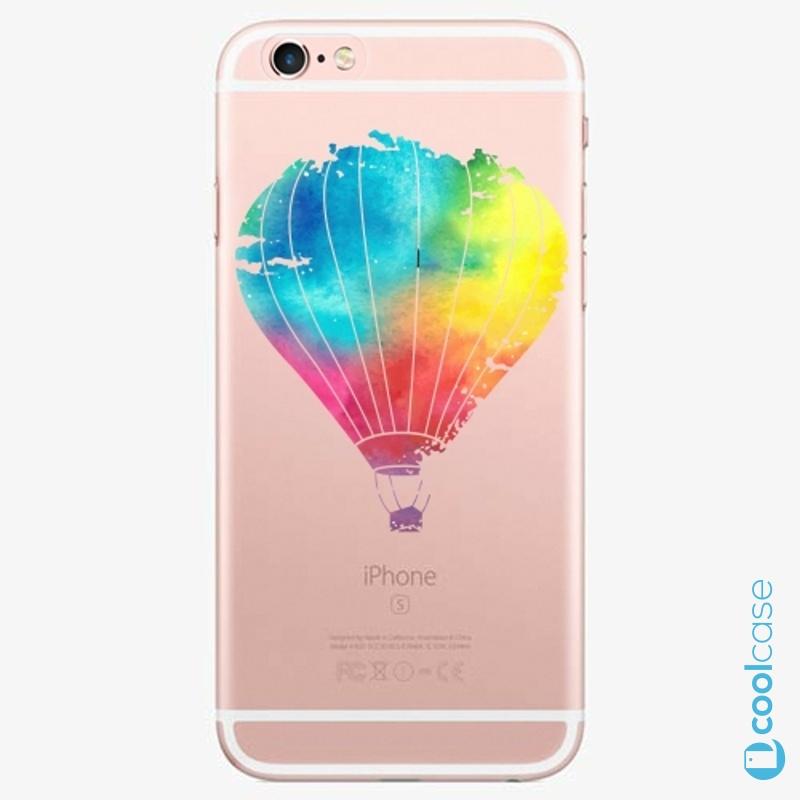 Silikonové pouzdro iSaprio - Flying Baloon 01 na mobil Apple iPhone 6 Plus / 6S Plus