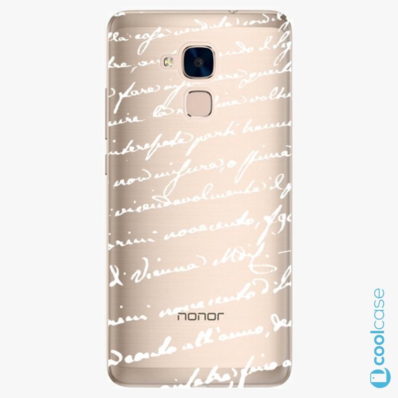 Silikonové pouzdro iSaprio - Handwiting 01 white na mobil Honor 7 Lite