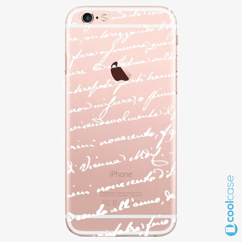 Silikonové pouzdro iSaprio - Handwiting 01 white na mobil Apple iPhone 6 Plus / 6S Plus