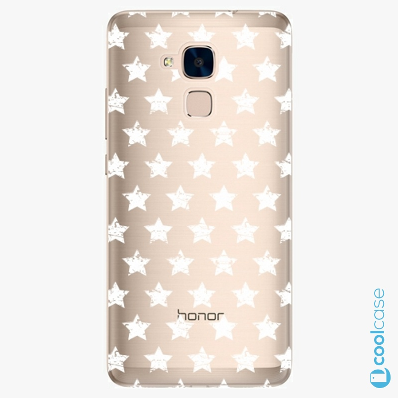 Silikonové pouzdro iSaprio - Stars Pattern white na mobil Honor 7 Lite