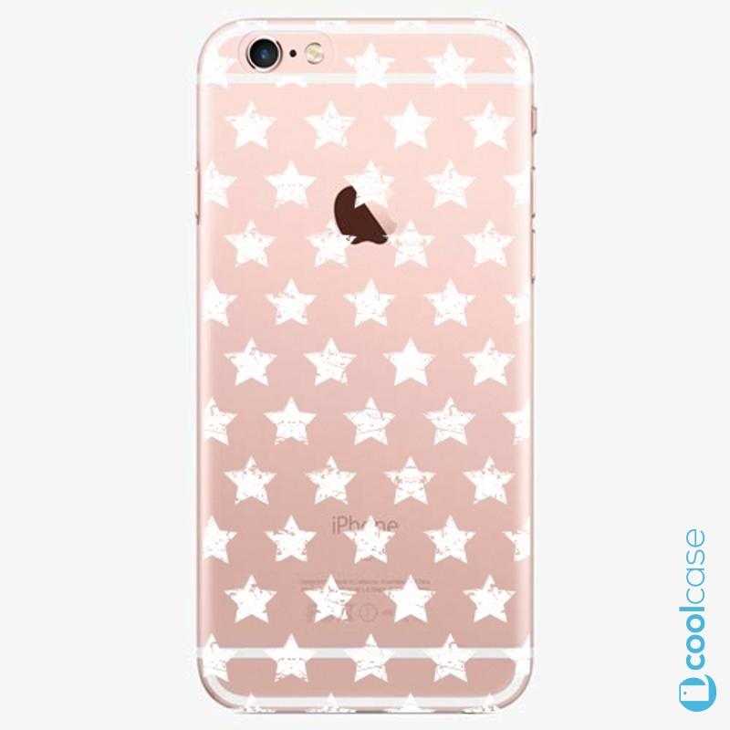 Silikonové pouzdro iSaprio - Stars Pattern white na mobil Apple iPhone 6 Plus / 6S Plus