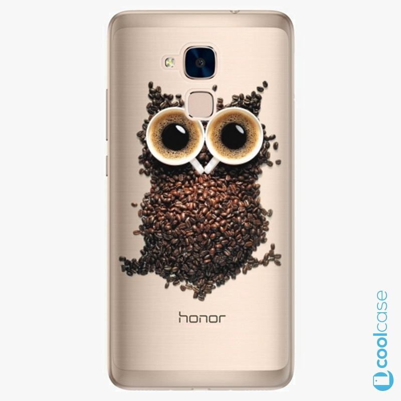 Silikonové pouzdro iSaprio - Owl And Coffee na mobil Honor 7 Lite