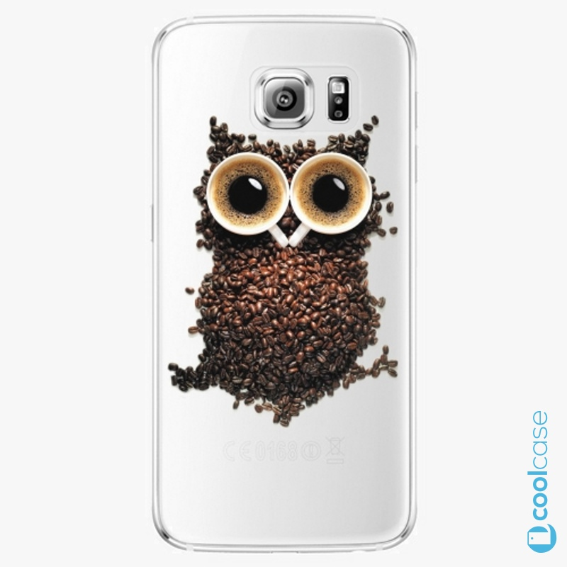 Silikonové pouzdro iSaprio - Owl And Coffee na mobil Samsung Galaxy S6 Edge