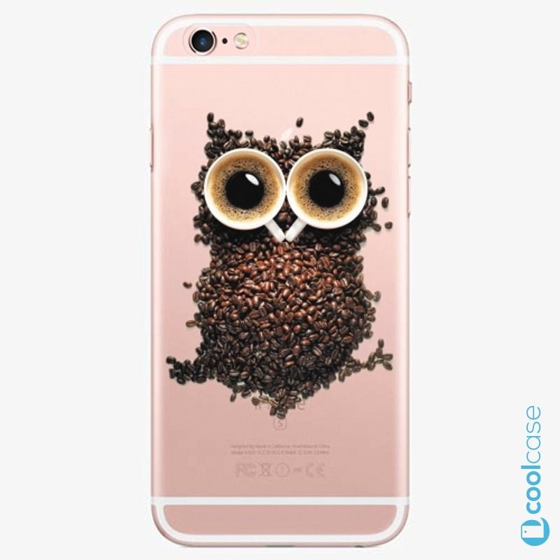 Silikonové pouzdro iSaprio - Owl And Coffee na mobil Apple iPhone 6 Plus / 6S Plus
