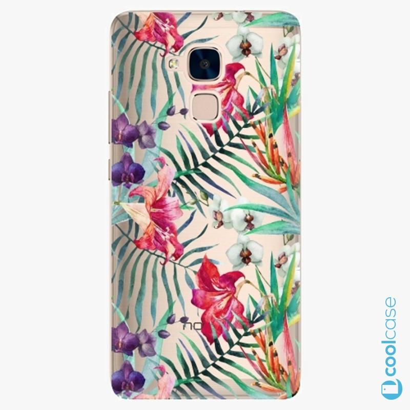 Silikonové pouzdro iSaprio - Flower Pattern 03 na mobil Honor 7 Lite