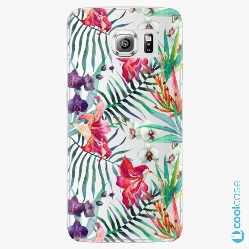 Silikonové pouzdro iSaprio - Flower Pattern 03 na mobil Samsung Galaxy S6 Edge