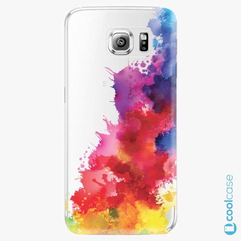 Silikonové pouzdro iSaprio - Color Splash 01 na mobil Samsung Galaxy S6 Edge