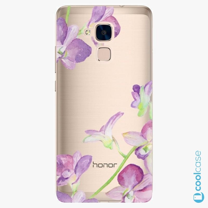 Silikonový obal, pouzdro, kryt iSaprio purple Orchid na mobil Honor 7 Lite