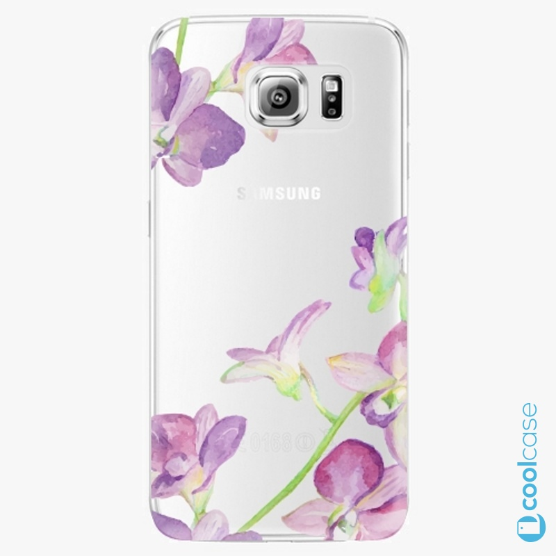 Silikonový obal, pouzdro, kryt iSaprio purple Orchid na mobil Samsung Galaxy S6 Edge