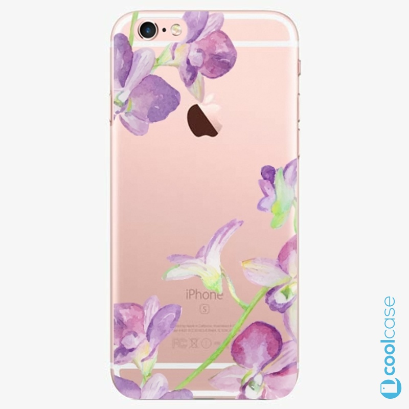 Silikonový obal, pouzdro, kryt iSaprio purple Orchid na mobil Apple iPhone 6 Plus / 6S Plus