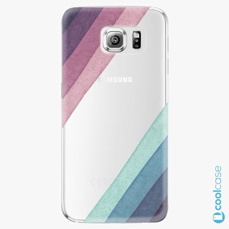 Silikonové pouzdro iSaprio - Glitter Stripes 01 na mobil Samsung Galaxy S6 Edge