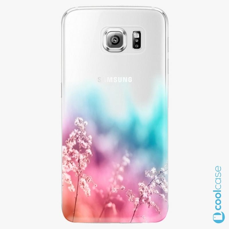 Silikonové pouzdro iSaprio - Rainbow Grass na mobil Samsung Galaxy S6 Edge