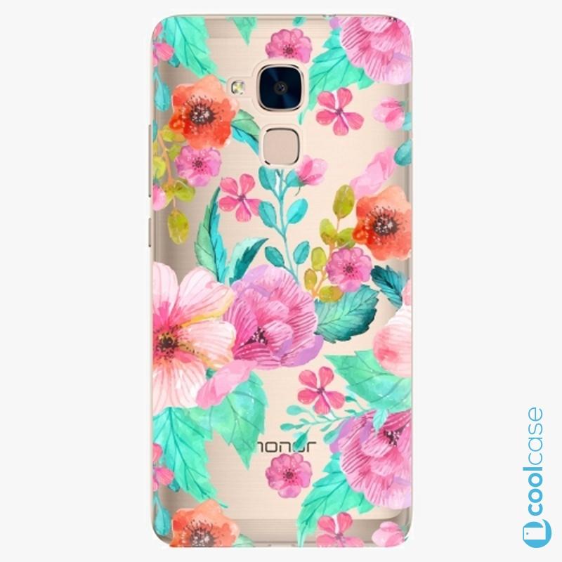 Silikonové pouzdro iSaprio - Flower Pattern 01 na mobil Honor 7 Lite