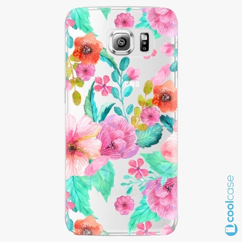 Silikonové pouzdro iSaprio - Flower Pattern 01 na mobil Samsung Galaxy S6 Edge