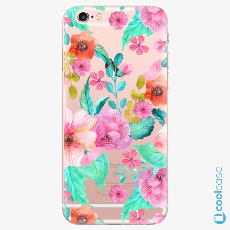 Silikonové pouzdro iSaprio - Flower Pattern 01 na mobil Apple iPhone 6 Plus / 6S Plus