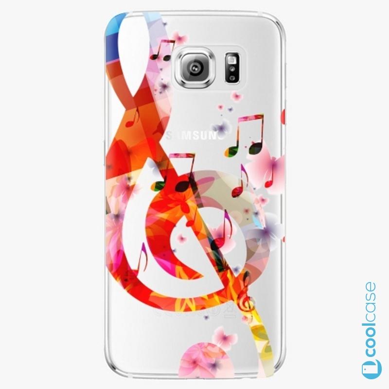 Silikonové pouzdro iSaprio - Music 01 na mobil Samsung Galaxy S6