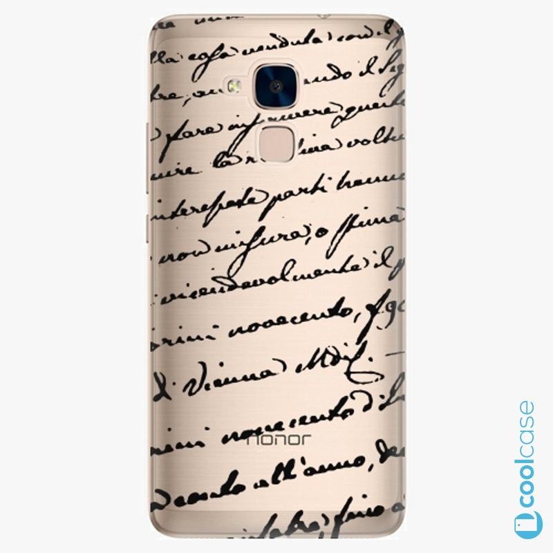 Silikonové pouzdro iSaprio - Handwiting 01 black na mobil Honor 7 Lite