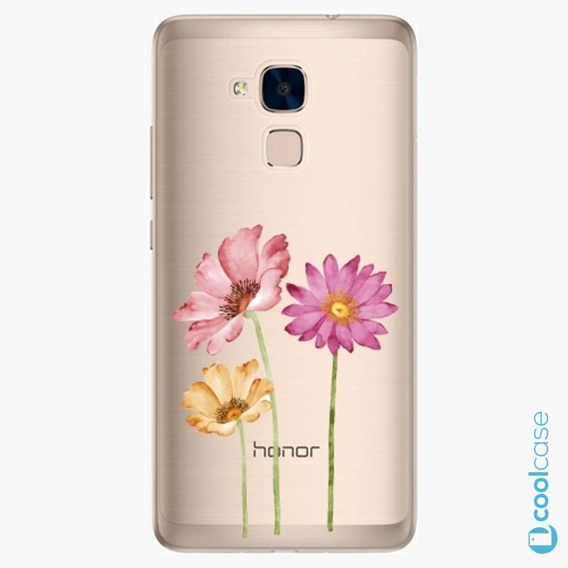 Silikonové pouzdro iSaprio - Three Flowers na mobil Honor 7 Lite