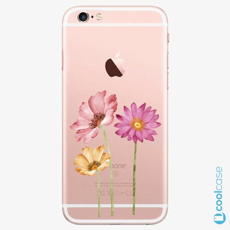 Silikonové pouzdro iSaprio - Three Flowers na mobil Apple iPhone 6 Plus / 6S Plus