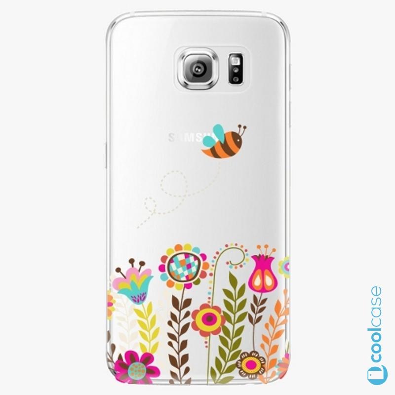 Silikonové pouzdro iSaprio - Bee 01 na mobil Samsung Galaxy S6
